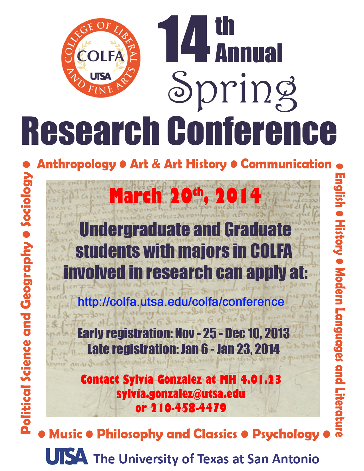 Spring Research Conference | UTSA College of Liberal and ...