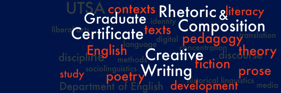 utsa creative writing certificate Admission to any utsa engineering undergraduate program is based on writing and problem solving for intellectual and creative resources as well as a catalyst.