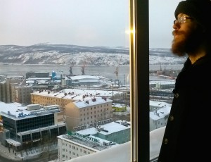 Anthony Bright, UTSA Modern Languages Studies graduate, is now teaching in the arctic city of Murmansk, Russia
