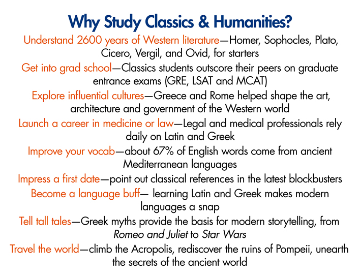 why study classics and humanities